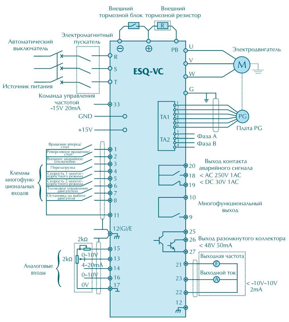 Схема подключение однофазного двигателя к частотному преобразователю схема